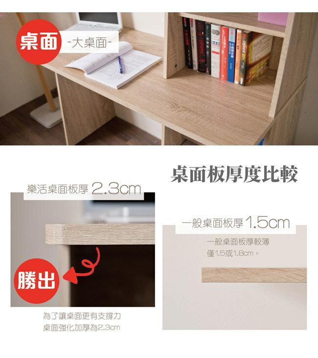 日式 / 無印 / 書桌 / 收納 TZUMii 桑田造型層架式書桌 3
