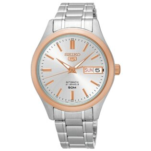 SEIKO精工5號自動上鏈機械女腕錶玫瑰金SNK882J1(7S26-04K0KS)
