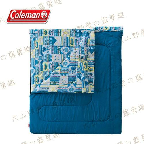 【露營趣】Coleman CM-27257 2in1 5℃家庭睡袋 信封型睡袋 纖維睡袋 可全開併接