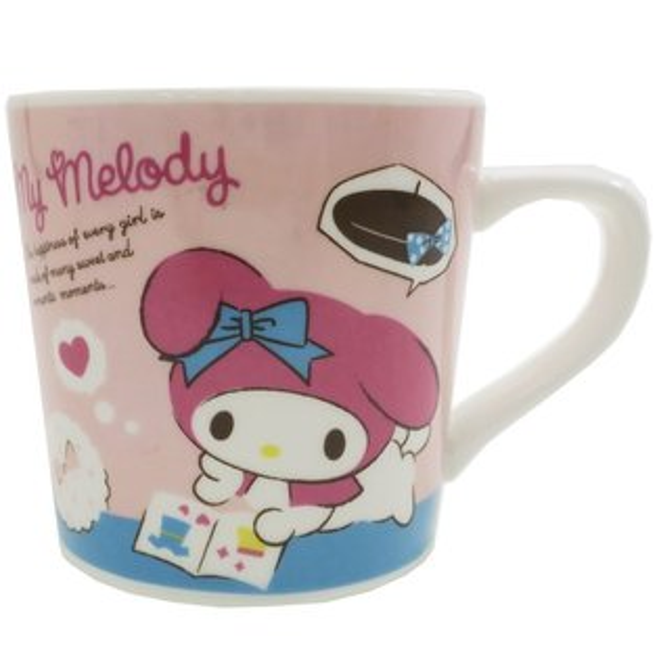X射線【C443566】美樂蒂Melody馬克杯-粉,水杯馬克杯杯瓶茶具玻璃杯不鏽鋼杯