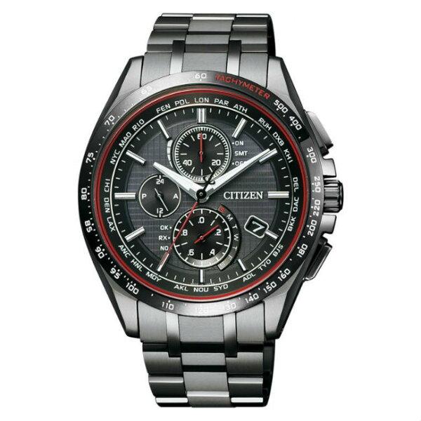 CITIZEN星辰錶AT8145-59E新世代廣告款電波商務光動能腕錶黑面41.5mm