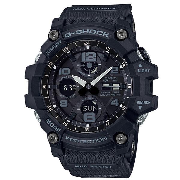CASIO卡西歐G-SHOCKGSG-100-1A極限大陸強悍黑雙顯腕錶
