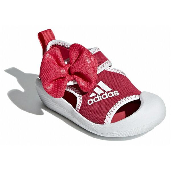 Shoestw【F35866】ADIDAS 涼鞋 AltaVenture Minnie 運動涼鞋 護趾涼鞋 童鞋 中童鞋 黏帶 迪士尼 米妮 蝴蝶結 桃紅白 1