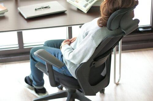 多點力學支撐 電腦椅 辦公椅 人體工學 連續兩年最佳銷售 商務椅 高背 頭枕 透氣 網椅 升降扶手 靛灰 / 純黑【Alpaca 機能美】 #GAC1801 2
