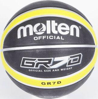 [陽光樂活=] MOLTEN 12片貼深溝橡膠籃球 標準7號球 黑x黃