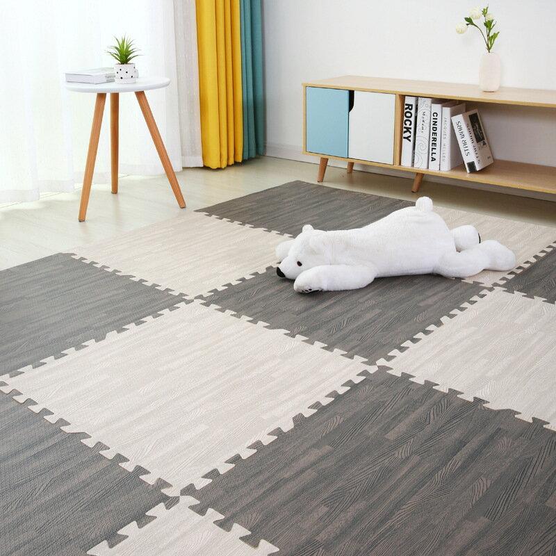 泡沫地墊臥室滿鋪拼接墊子地板墊加厚爬行墊木紋拼圖地毯榻榻米