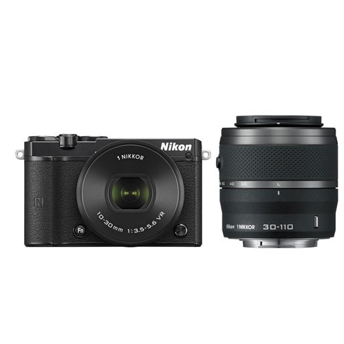 Nikon 1 J5 Mirrorless Digital Camera with 10-30mm and 30-110mm Lenses (Black) 0
