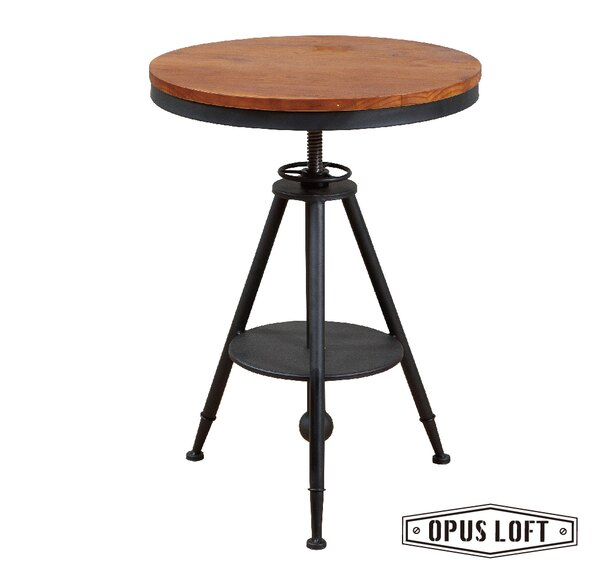 純真年代Opus Loft:復古LOFT工業風鐵腳原木圓桌