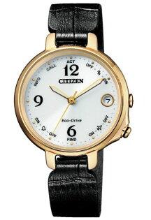 CITIZEN星辰錶EE4022-16A優雅藍芽連線光動能腕表金+黑33mm