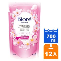 蜜妮Biore 淨嫩沐浴乳 浪漫保濕型-京都櫻花香 補充包 700ml (12入)/箱