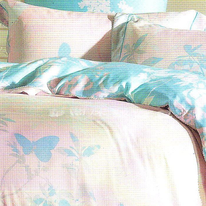 *華閣床墊寢具暢貨中心*【蝶影如夢】台灣製100%奧地利天絲TENCEL.六件式鋪棉床罩組-雙人 60支天絲