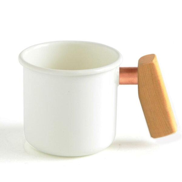 特製木柄琺瑯杯