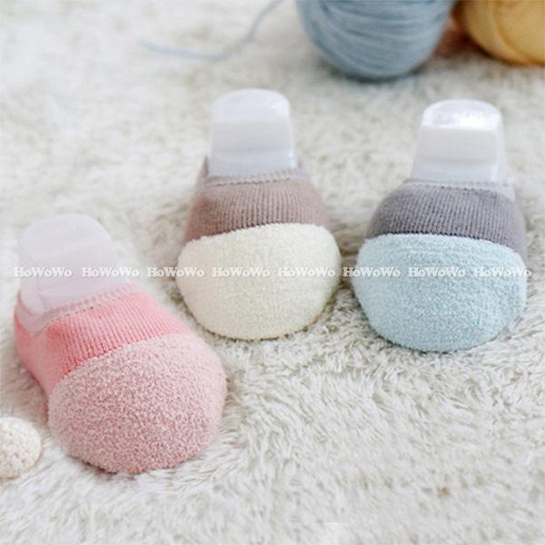 童襪 寶寶襪 珊瑚絨加厚船型襪 短襪 嬰兒襪 防滑襪 0-4歲 CA1198