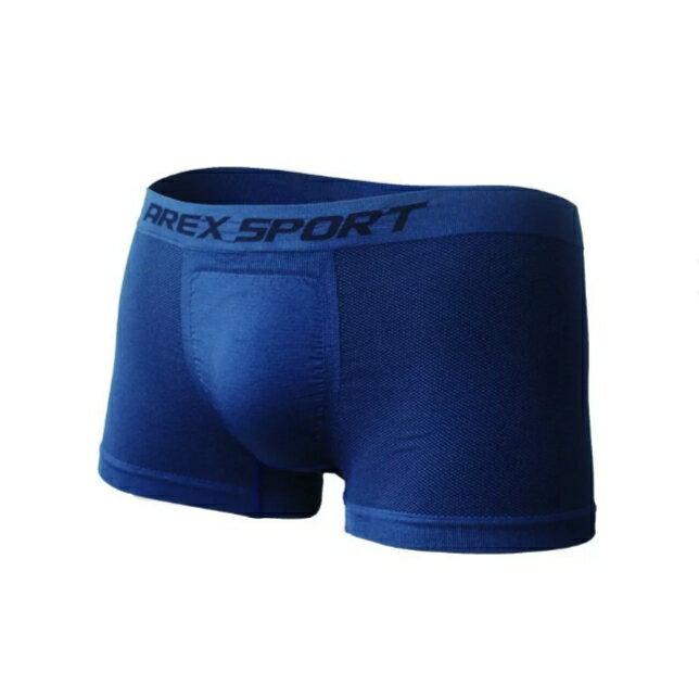 AREX SPORT 全抗菌中低腰無痕透氣網眼男四角褲-6+1入組 囊袋 紳士內衣 1