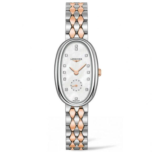 LONGINES浪琴表L23065877圓舞曲系列真鑽腕錶珍珠母貝面22*34mm