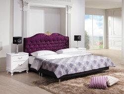 【尚品家具】HY-B013-01 溫妮莎5尺紫色絨布床頭片~另有6尺