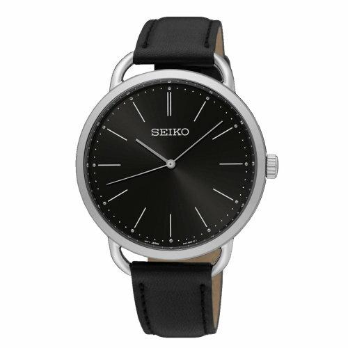 大高雄鐘錶城:Seiko精工錶6N01-00A0D大三針經典簡約超薄腕錶黑面38mm