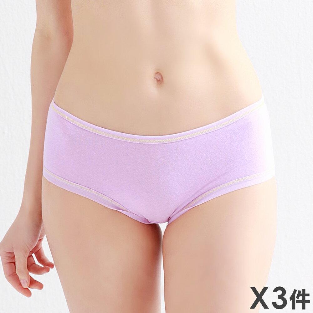 3件199免運【夢蒂兒】棉質單純少女三角褲3件組(隨機色)