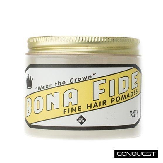 【 CONQUEST 】Bona Fide Matte Paste 無光澤髮蠟 手撥油頭造型 乾爽滑順好推 不油不黏膩