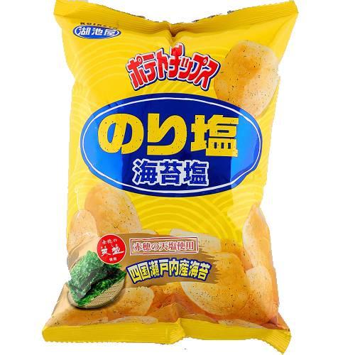 湖池屋海苔鹽洋芋片82g【愛買】