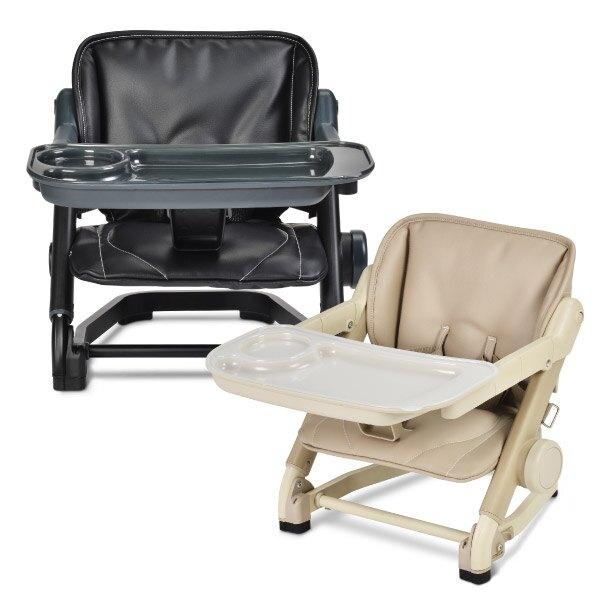 【英國 Unilove】Feed Me攜帶式寶寶餐椅(椅身+椅墊)摺疊餐椅(黑/奶茶色)-miffybaby