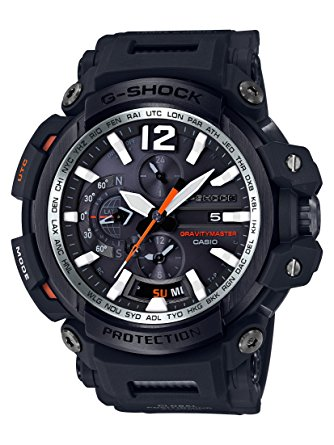 Casio Men's 'G SHOCK TOUGH SOLAR' Quartz Resin Aviator Watch, Color:Black (Model: GPW-2000-1ACR) 0
