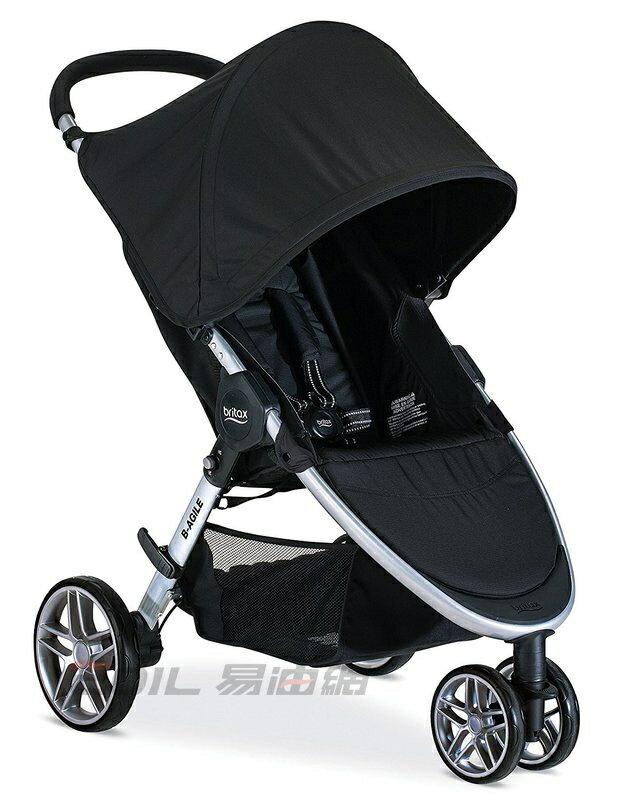 Britax-B-Agile 單手收豪華三輪手推車 (黑色 )