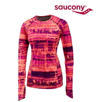 SAUCONY 索康尼 Saucony 女款 吸濕排汗V領衫 SY81344-PVRVPE XS 一件[陽光樂活]