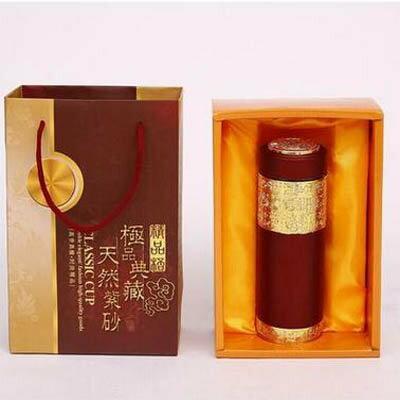 【紫砂杯禮盒裝-400ML-1個/組】紫砂杯高檔商務禮品杯不銹鋼保溫杯-7270702