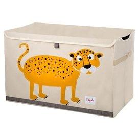 【淘氣寶寶】加拿大 3 Sprouts 大型玩具收納箱-小花豹【超大容量造型玩具箱,可摺疊收納,加蓋防塵】【保證公司貨●品質保證】