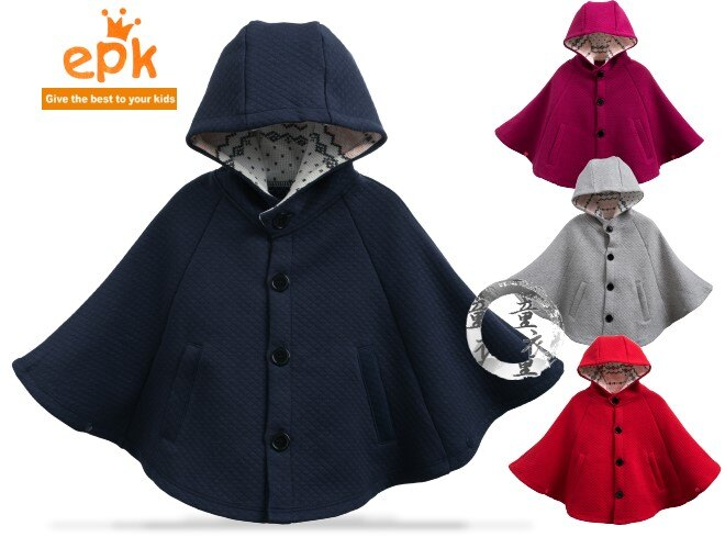 童衣園【AD113】AD113空氣棉披風 epk 中厚綿 前開 前扣 含帽 連帽 保暖 外套 外搭 披肩 斗篷