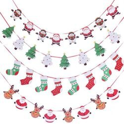 PS Mall 耶誕節紙質布置拉旗裝飾 拍照道具【J2456】