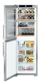 嘉儀 LIEBHERR 利勃 SWTNes3010 獨立式酒櫃+冷凍櫃(不鏽鋼色)(247公升)【零利率】※熱線07-7428010