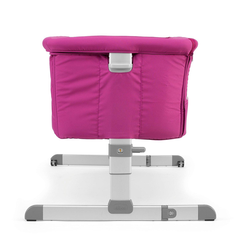【贈抗菌液60ml+玩偶(隨機)】義大利【Chicco】Next 2 Me多功能移動舒適嬰兒床(紫紅色) 5