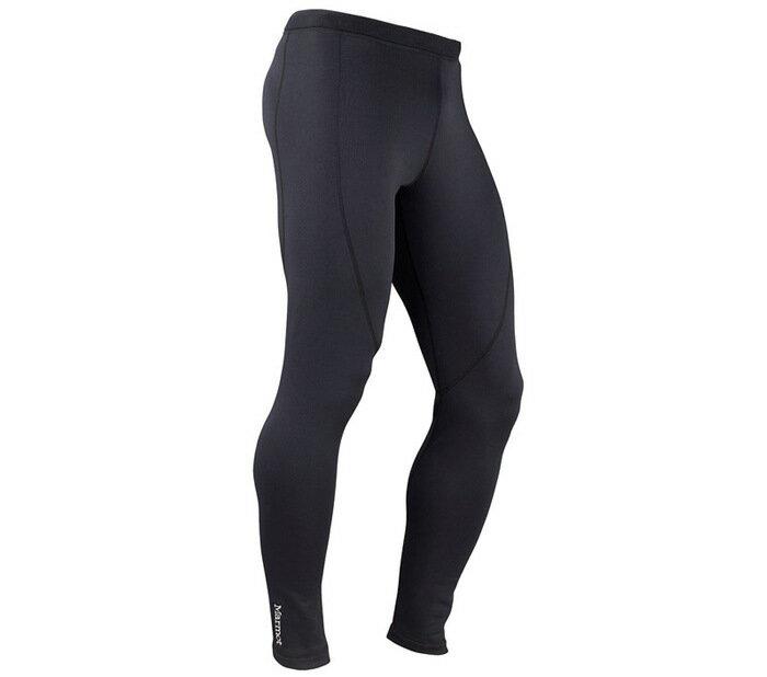├登山樂┤美國Marmot土撥鼠 Stretch Fleece男款彈性保暖長褲 黑#80910-0001