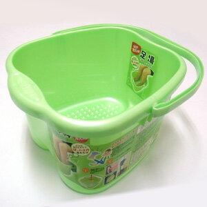 日本製 INOMATA 泡腳桶18L (綠色) ★人體工學設計 好提 好用 ★