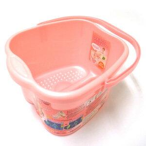 日本製INOMATA泡腳桶12L (粉色) ★人體工學設計 好提 好用 ★EC30002