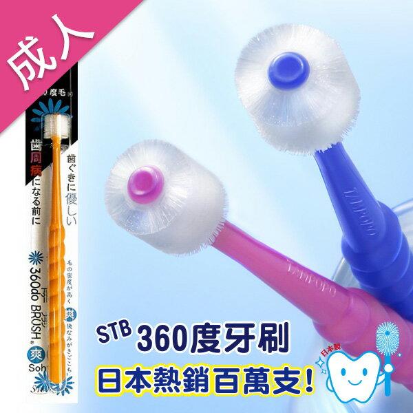 [下單2支,1支免費]STB 蒲公英360度成人牙刷 加贈日製L8020漱口水EC34023 1
