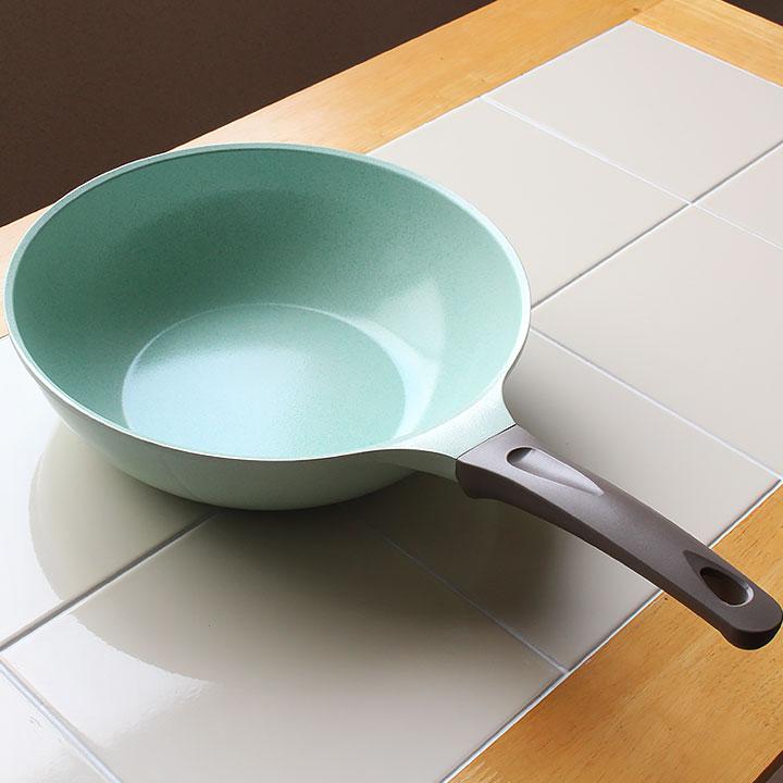 KUKUNA 超輕量翡翠塗層不沾鍋-28CM深鍋 / IH爐對應-日本必買 日本樂天代購 1