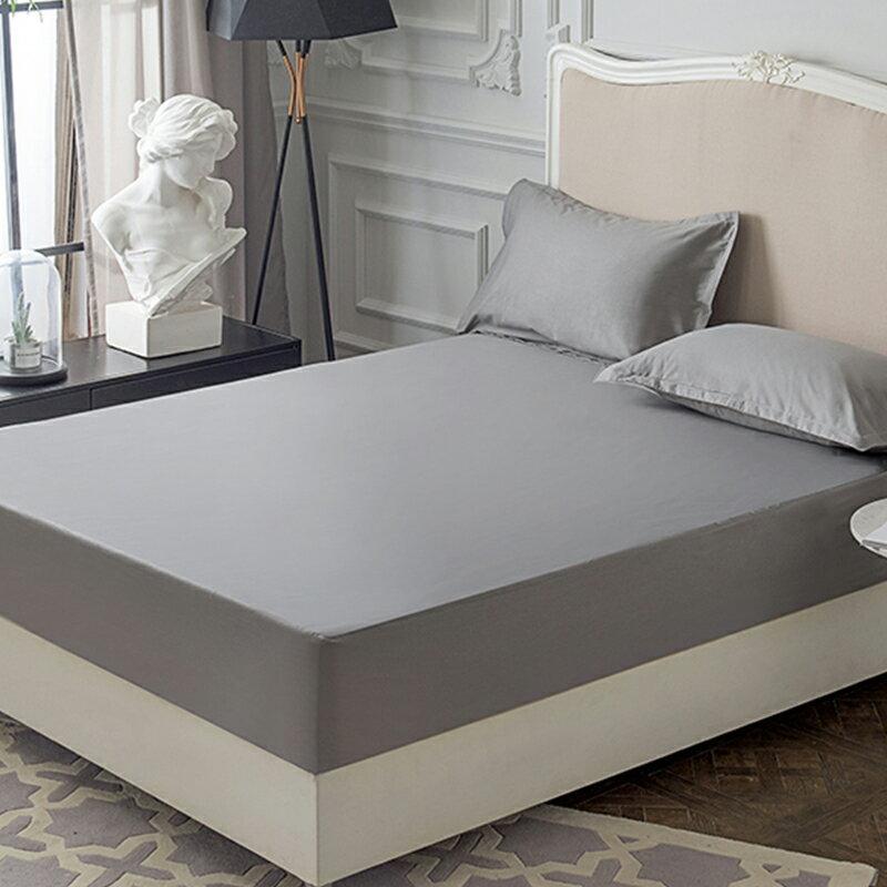 [滿額免運]100%防水 吸濕排汗床包保潔墊 枕套 MIT台灣製造(灰色)[艾拉寢飾]