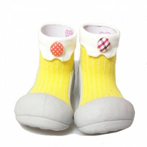 【本月特價$599】韓國【Attipas】快樂腳襪型學步鞋-糖果黃 - 限時優惠好康折扣