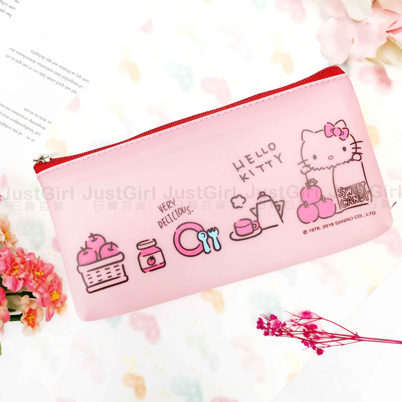 硅膠筆袋-KITTY 凱蒂貓 三麗鷗 正版授權