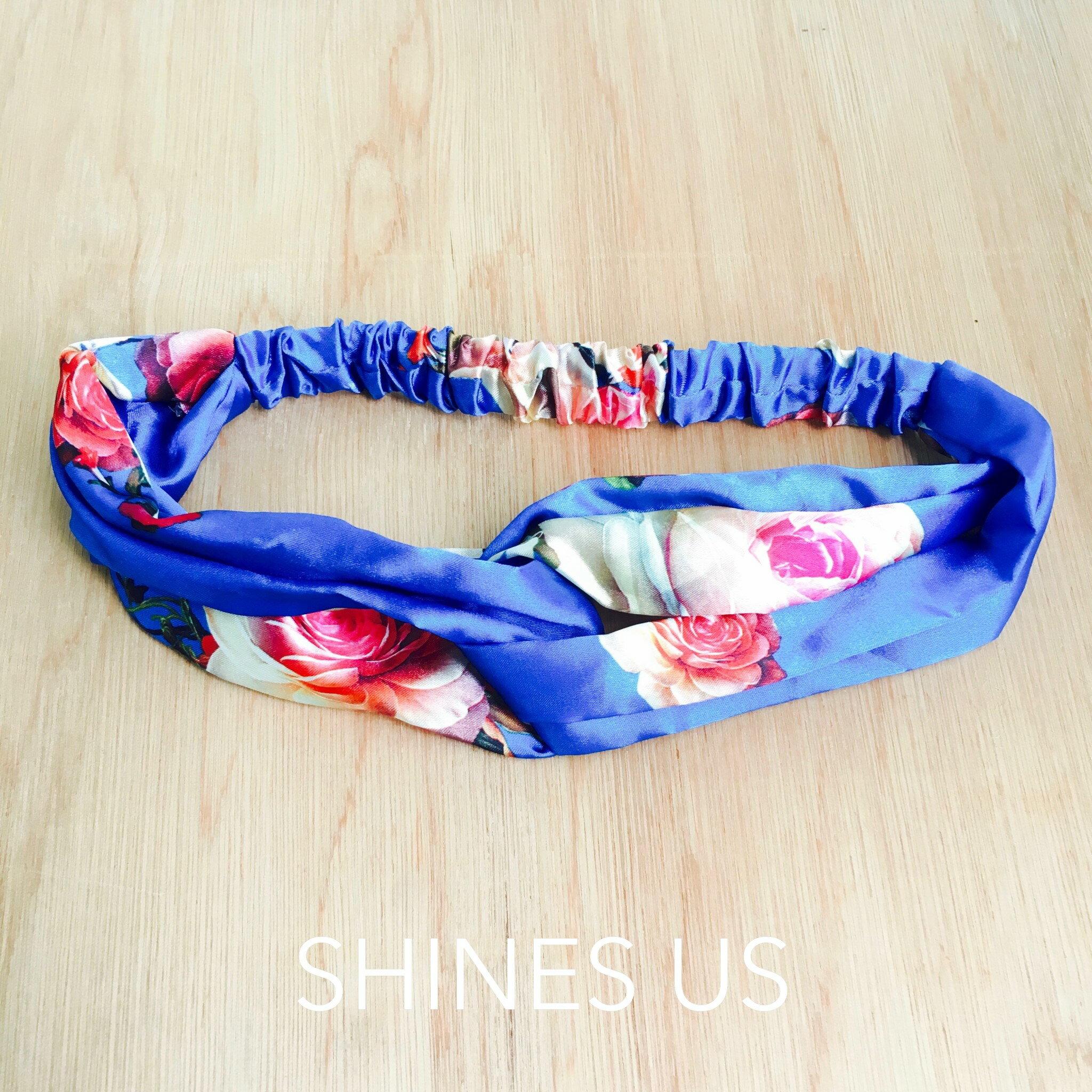 ~SHINES US~正韓 花朵寶藍髮帶 髮飾