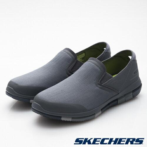 【SKECHERS促銷6折│全店免運】SKECHERS(男)GOFlex健走系列藍灰-54010CCNV
