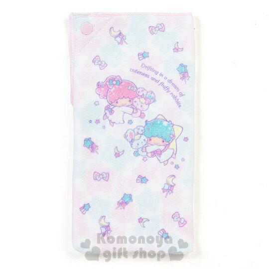 〔小禮堂〕雙子星 多功能毛巾布水壺袋《粉綠.星星.月亮.兔子》可裝500ml水瓶