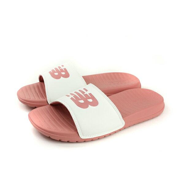 NEW BALANCE 拖鞋 輕便 女鞋 白/ 粉 SD130WP-D no406
