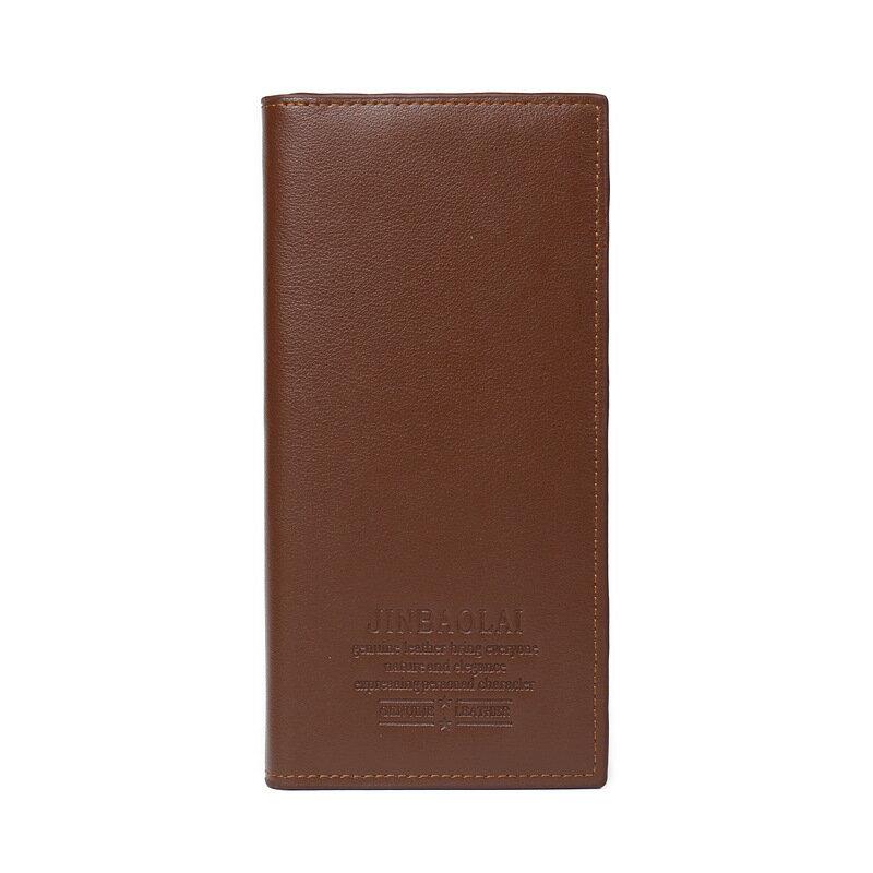 韓版時尚三折男士長形皮夾錢包零錢包