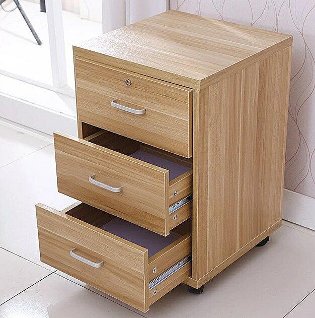 文件櫃辦公室櫃子檔案櫃帶鎖活動矮櫃落地式櫃資料櫃三抽屜床頭櫃【快速出貨】