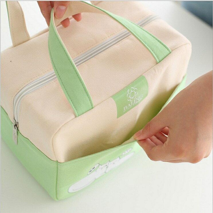 保溫袋 便當包保溫手提包韓國小清新帆布保溫袋便當袋帶飯包【快速出貨八折搶購】