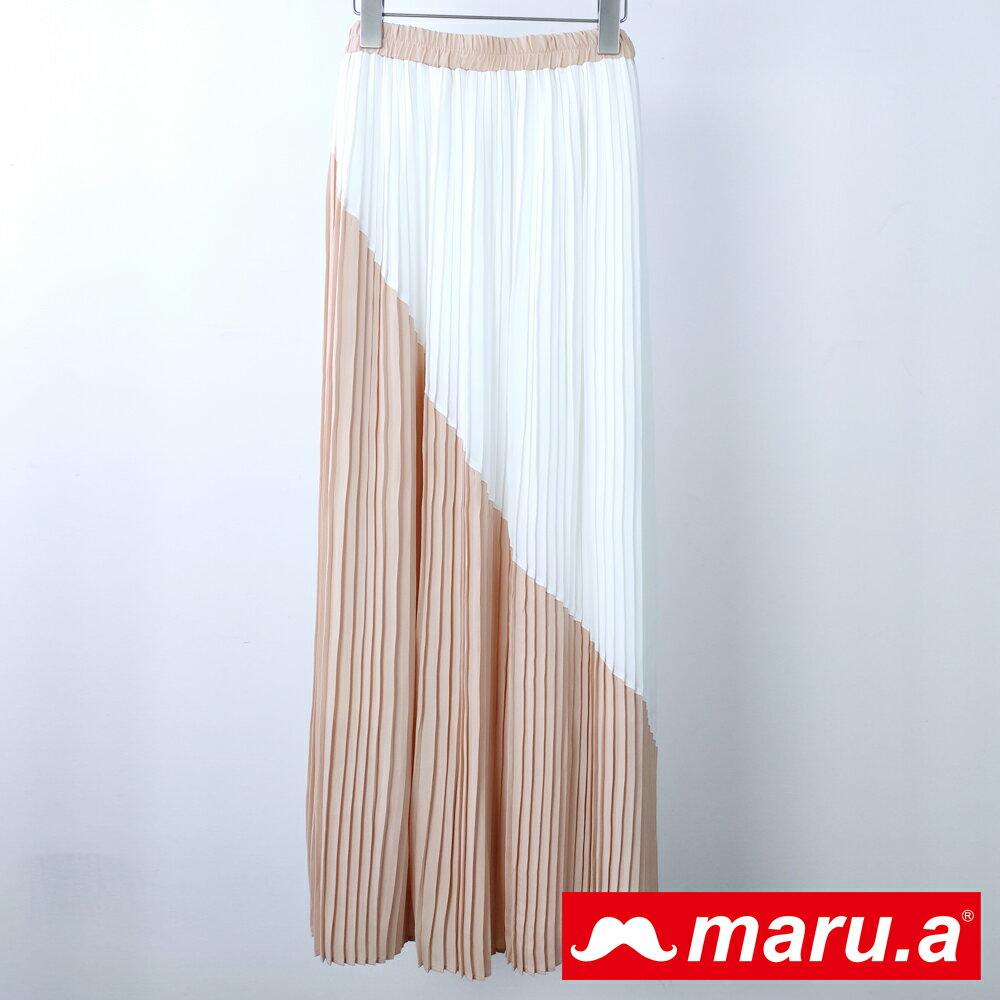 【MU Outlet】優雅百褶修身長裙(白色)►夏日Fun價   指定品3件85折